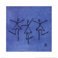 Peace - Blue Dancers Framed Print