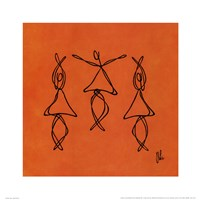 Hope - Orange Dancers Framed Print