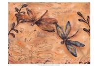 Fluttering Dragonflies Framed Print