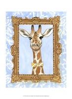Teacher's Pet - Giraffe Framed Print
