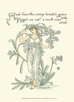 Shakespeare's Garden VII (Forget me not) Fine Art Print