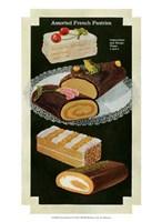 French Pastries I Framed Print