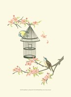 Small Birds on a Branch II Fine Art Print
