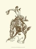 Small Cowboy Fine Art Print