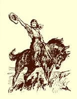 Small Cowgirl Fine Art Print
