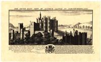 Vintage Alnwick Castle Fine Art Print