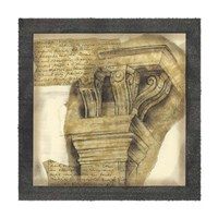 Antique Capitals II Framed Print