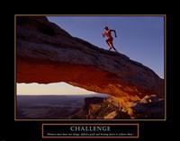 Challenge-Runner Framed Print