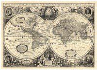 Vintage World Map - Orbis Geographica Fine Art Print
