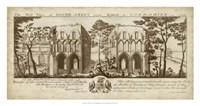 View of Roche-Abbey Fine Art Print