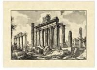 Vintage Roman Ruins I Framed Print