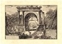 Vintage Roman Ruins II Framed Print