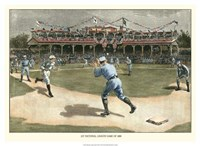 National League Game 1886 Fine Art Print