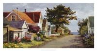 Sunlit Side Street Fine Art Print