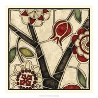 Floral Mosaic I Fine Art Print