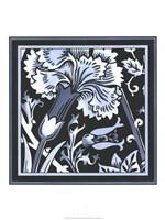 Blue & White Floral Motif I Fine Art Print