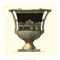 Crackled Large Giardini Urn I Fine Art Print