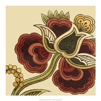 Paprika Floral I Framed Print