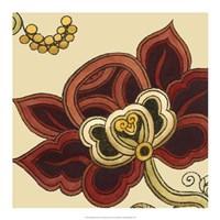 Paprika Floral II Framed Print