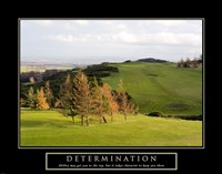 Determination-Golf Framed Print