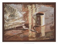 Coffee, Men, Chocolate Fine Art Print