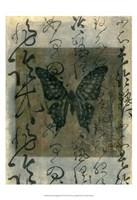 Butterfly Calligraphy III Fine Art Print