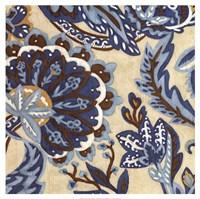 Custom Indigo Tapestry I Framed Print