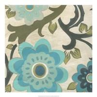 Peacock Blossoms I Framed Print