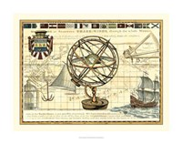 Nautical Map I Fine Art Print