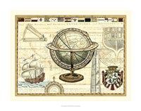 Nautical Map II Fine Art Print