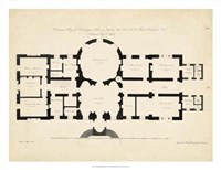 Antique Building Plan I Fine Art Print