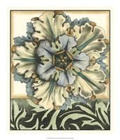 Panelled Rosette I Fine Art Print