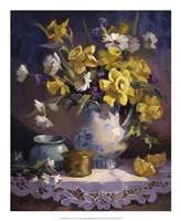 Daffodils and Lace Fine Art Print