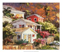 Beach Cottage Community Fine Art Print