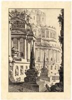Vintage Roman Ruins III Framed Print