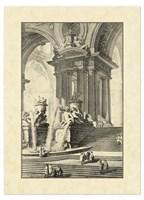 Vintage Roman Ruins IV Framed Print