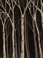 Midnight Birches I Fine Art Print