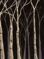 Midnight Birches II Fine Art Print