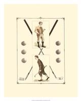 Golfers: H. Hutchinson & John Ball Fine Art Print