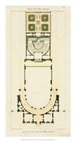 Plan de la Villa di Papa Guilio Fine Art Print