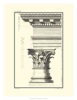 B&W Column and Cornice I Fine Art Print