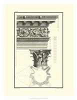 B&W Column and Cornice II Fine Art Print