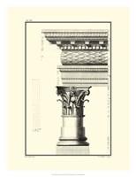 B&W Column and Cornice III Fine Art Print