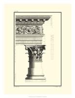 B&W Column and Cornice IV Fine Art Print
