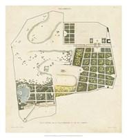 Plan General de la Villa Borghese Fine Art Print