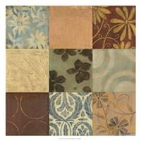 Textile Patterns 9-patch Fine Art Print