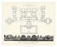 Plan & Elevation for a Roman Villa Fine Art Print