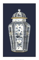 Asian Urn in Blue & White I Fine Art Print