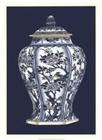 Blue & White Porcelain Vase II Fine Art Print