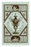 Urns in Celadon I Fine Art Print